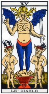 tarot marseille diable signification