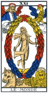 tarot marseille monde signification