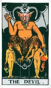 tarot rider waite diable signification