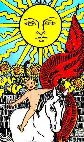 tarot rider waite soleil signification