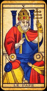 pape tarot marseille interprétation