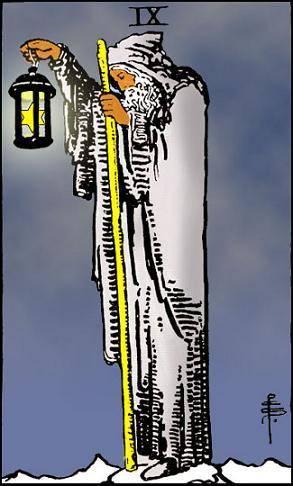 rider waite ermite signification