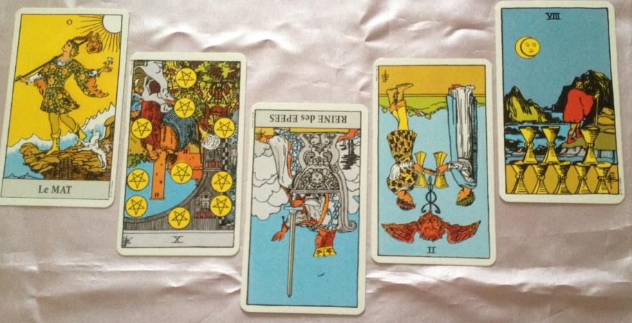 tarot cinq cartes interprétation