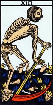tarot de marseille mort arcane sans nom signification