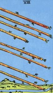 Rider waite 8 de bâtons