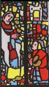 vitrail rider waite quatre d'épées détail