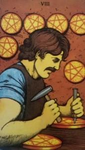 8 de Deniers Morgan Greer tarot