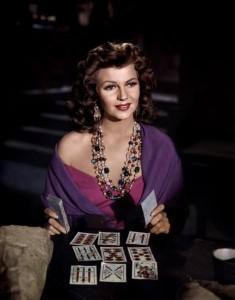 Rita Hayworth reading tarot