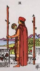 tarot mineures signification bâtons 2