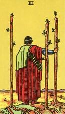 tarot mineures signification bâtons 3