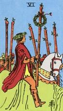 tarot mineures signification bâtons 6
