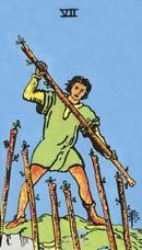 tarot mineures signification bâtons 7