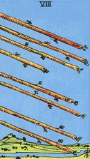 tarot mineures signification bâtons 8