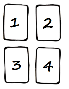 tirage de tarot 4 cartes