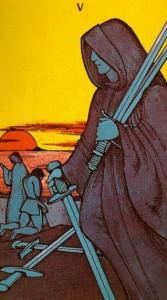 Greer tarot cinq d'épées