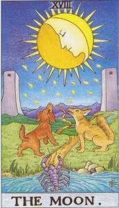 tarot lune carte rider waite radiant