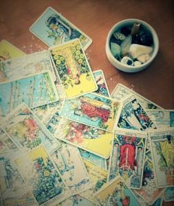 tarot talc cartes qui glissent