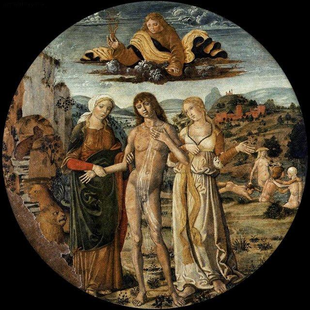 Hercule à la croisée des chemins, Girolamo di Benvenuto