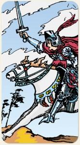 tarot rider waite cavalier d'épées signification
