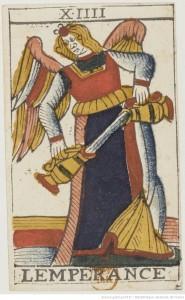 tarot jean noblet tempérance lempérance