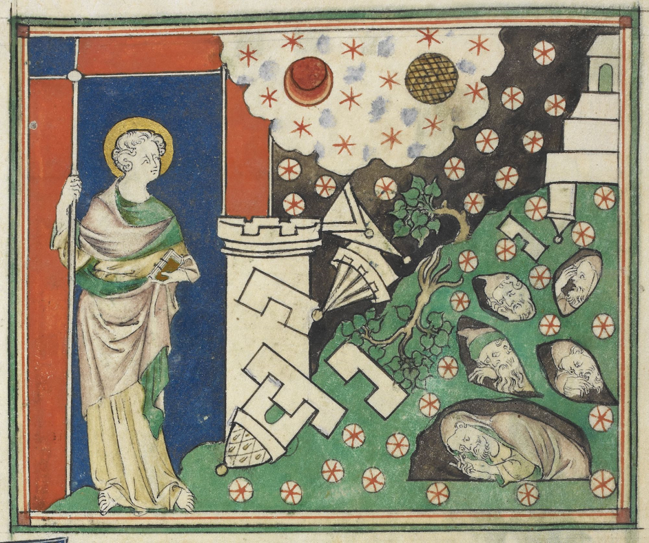 Apocalypse selon Saint Jean, Royal MS 19 B XV