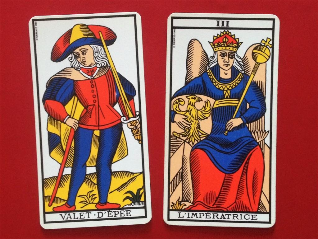 tarot combinaison valet épées impératrice