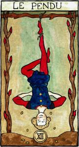 tarot marseille waite pendu