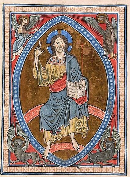 Christ en gloire, Psalter, MS G.25 fol. 3r