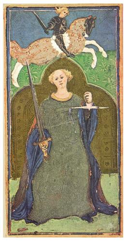 La Justice du Tarot Visconti-Sforza, vers 1445